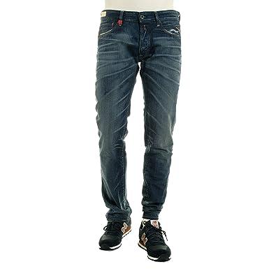 814611d0 Replay Mens Lenrick Regular Slim Fit Jeans -Denim 007-32W X 32L: Amazon.co. uk: Clothing
