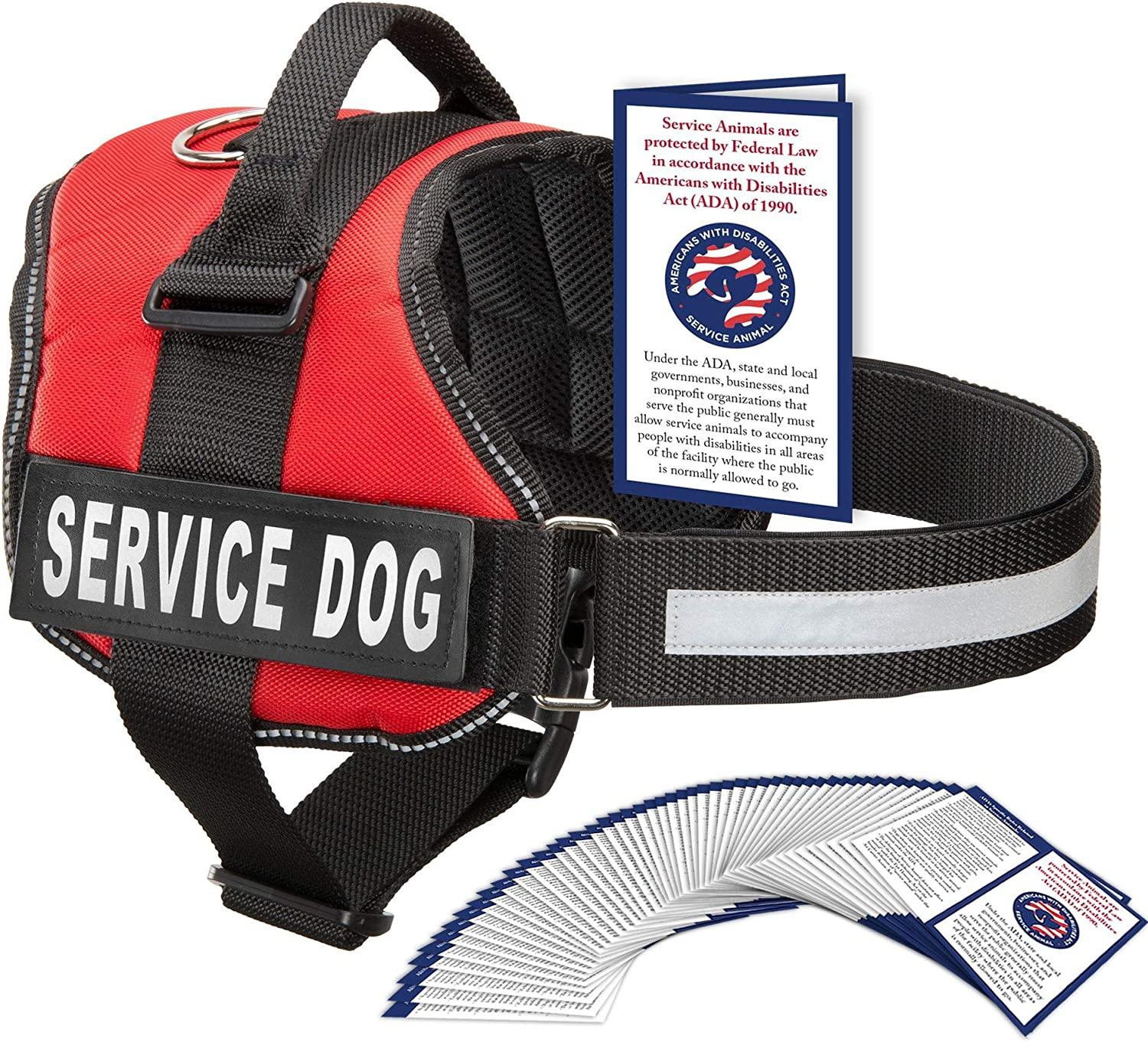 Amazon Com Industrial Puppy Service Dog Vest Harness With 2 Reflective Service Dog Patches Bright Red Xl Pet Supplies