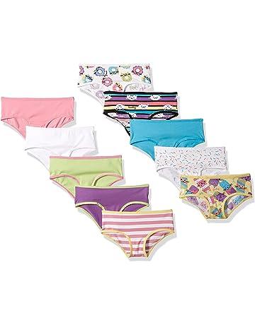 6e3b85d029674 Amazon Brand - Spotted Zebra Girls' Toddler & Kids 10-Pack Bikini Underwear