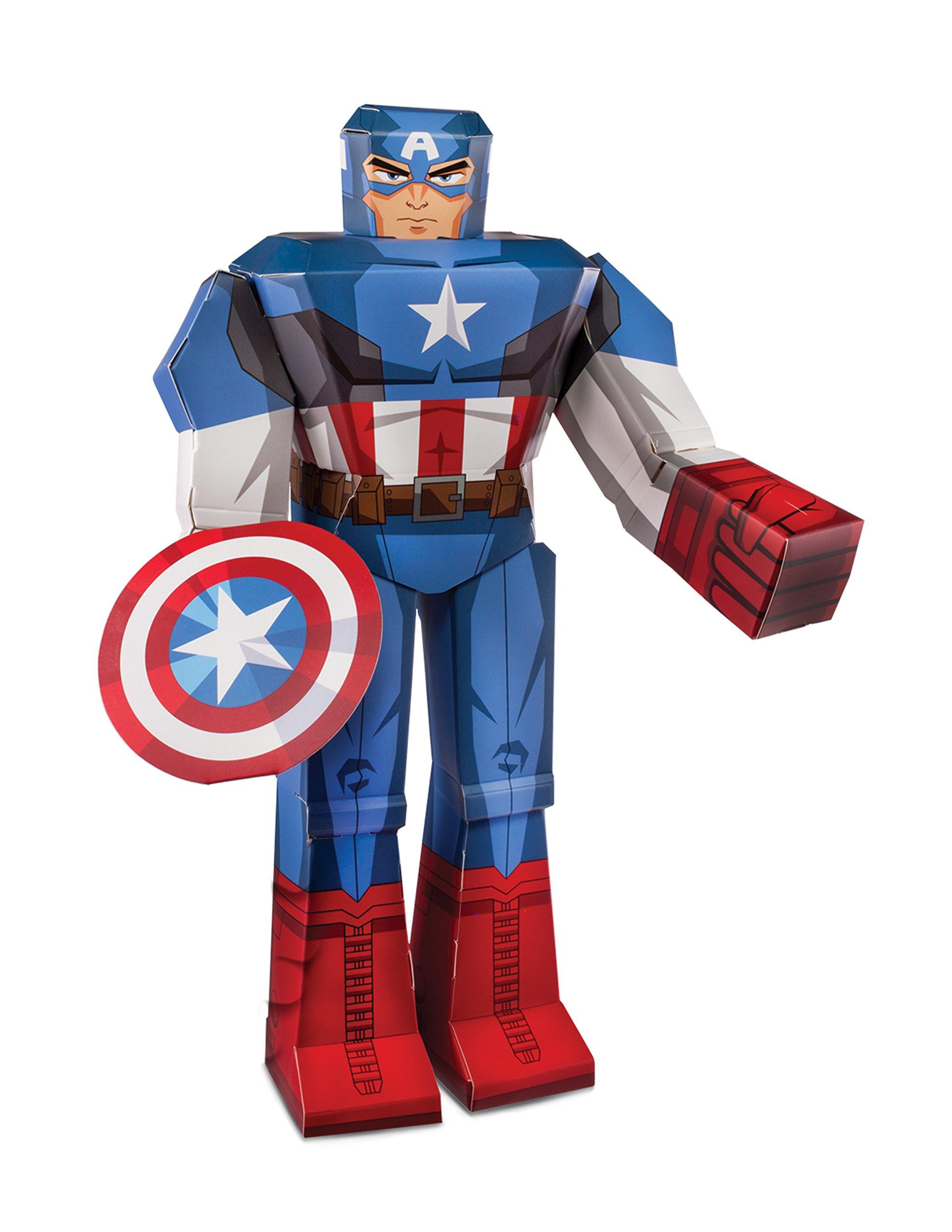 Zoofy International 12'' Captain America PDQ Action Figure