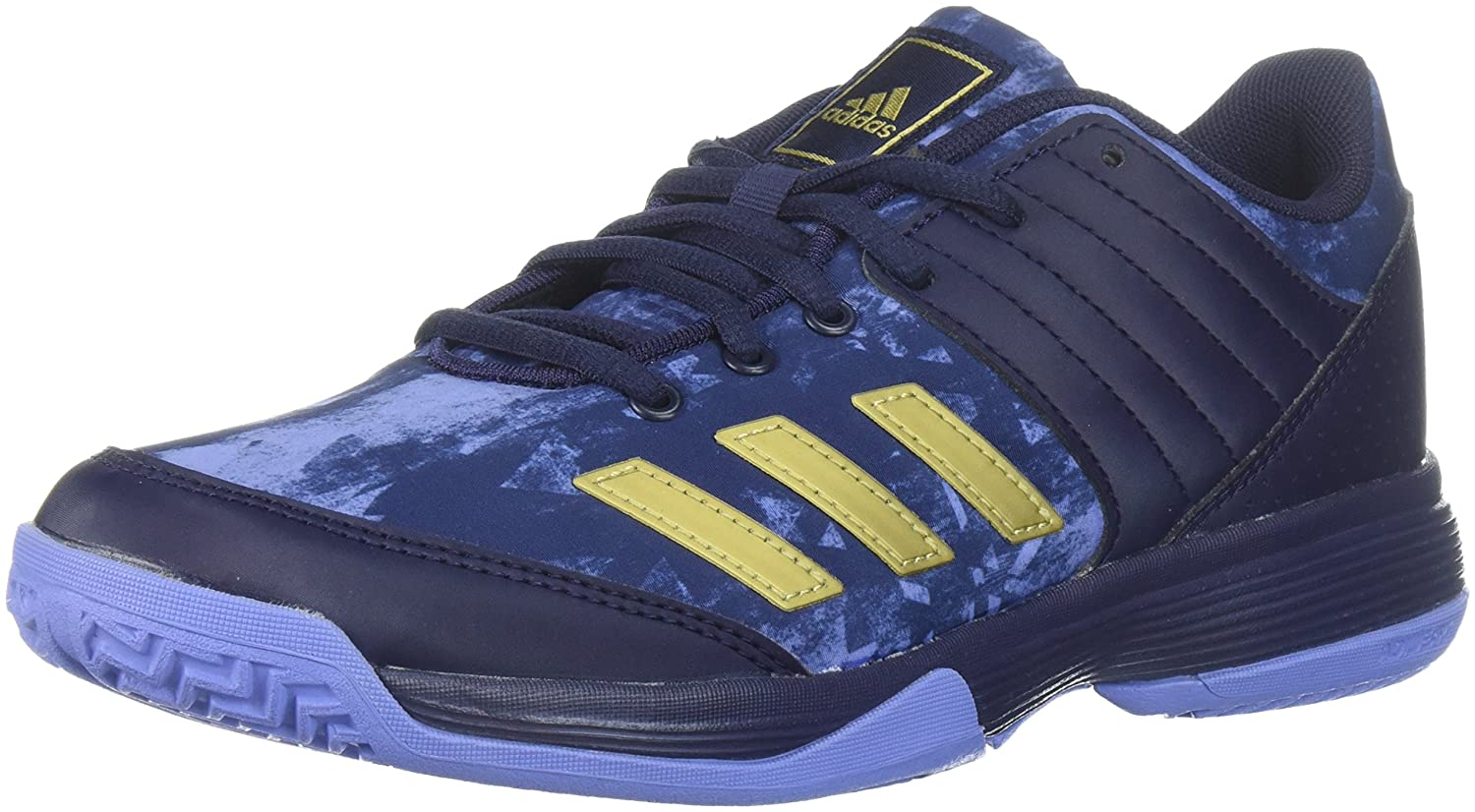 adidas Women's Ligra 5 W Tennis Shoe B07234L1MZ 7 B(M) US|Noble Ink/Metallic Gold/Chalk Purple
