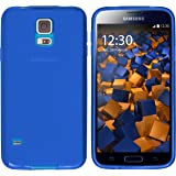 mumbi Coque de protection pour Samsung Galaxy S5 / S5 Neo TPU gel silicone transparent bleu