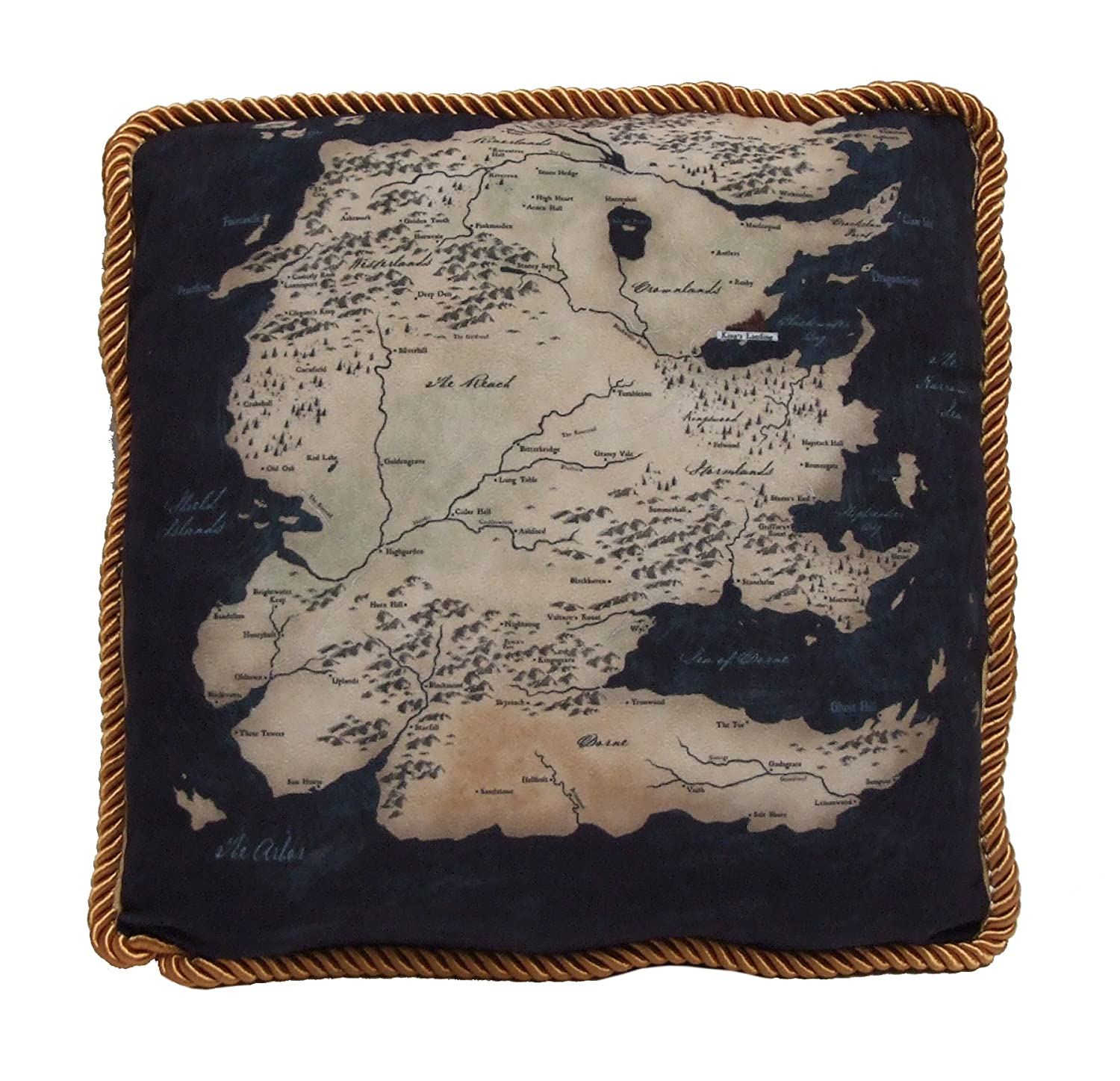 Factory Entertainment Game of Thrones Westeros Map Throw Pillow, South Map