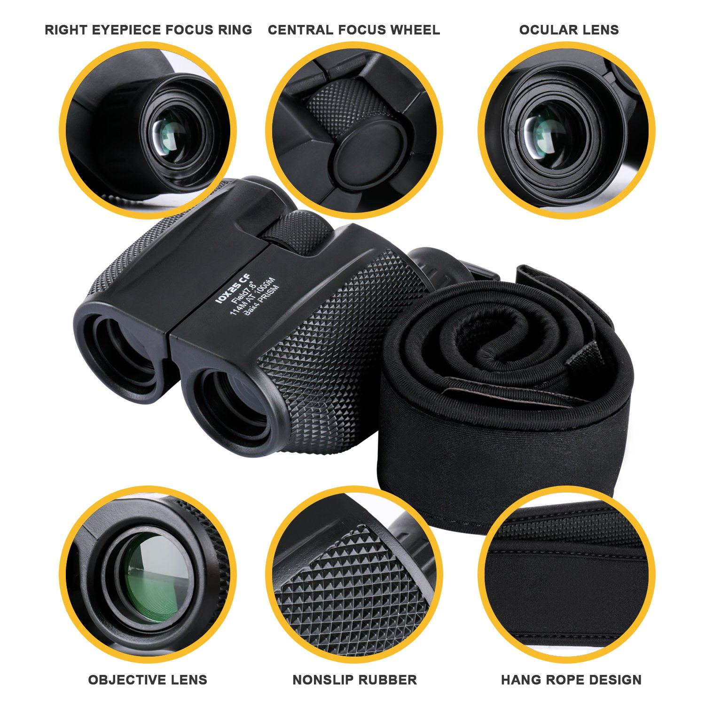 Amazon com : Folding Compact Optics High Powered Binoculars - High