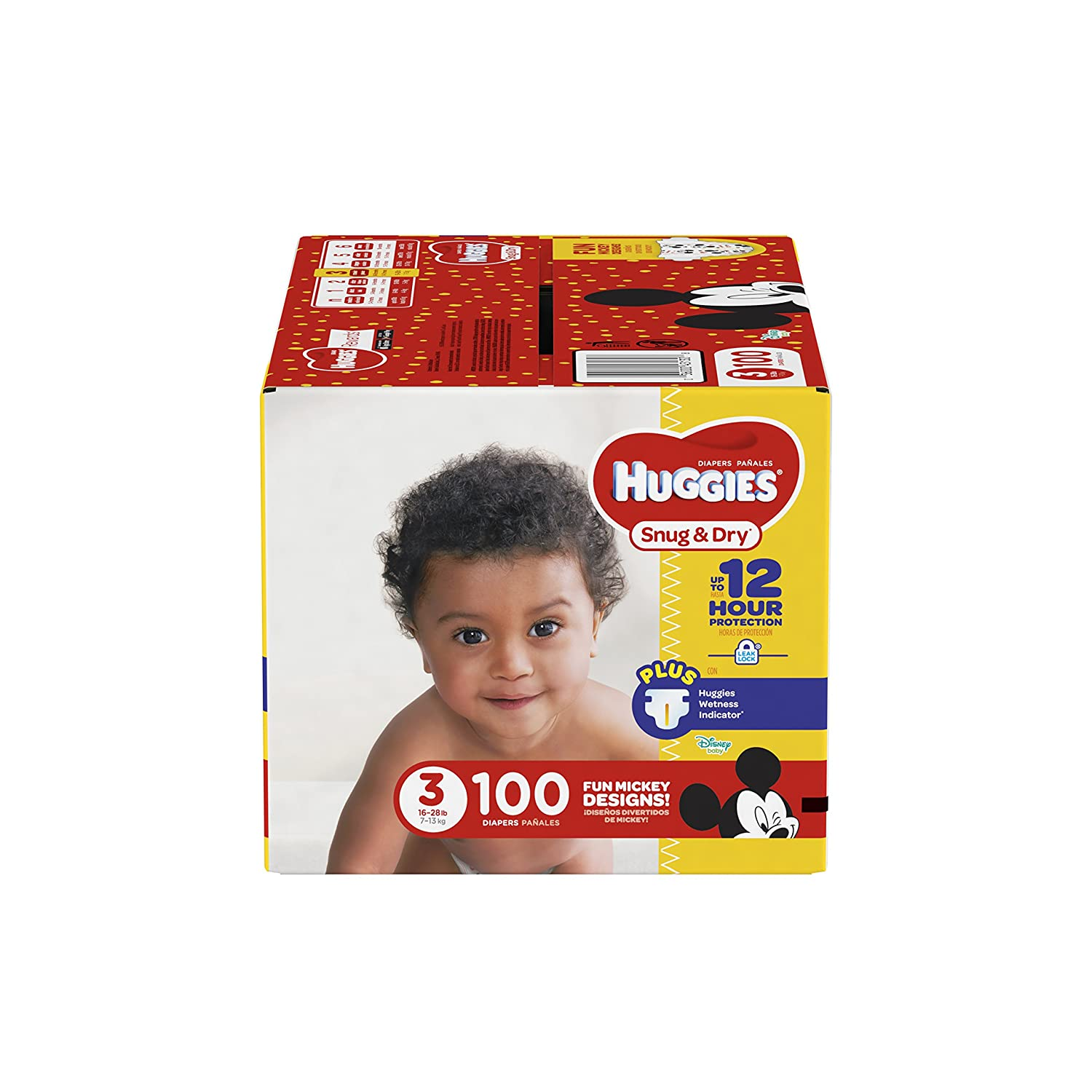 HUGGIES Snug /& Dry Diapers Size 2 Packaging May Vary BIG PACK 104 Count