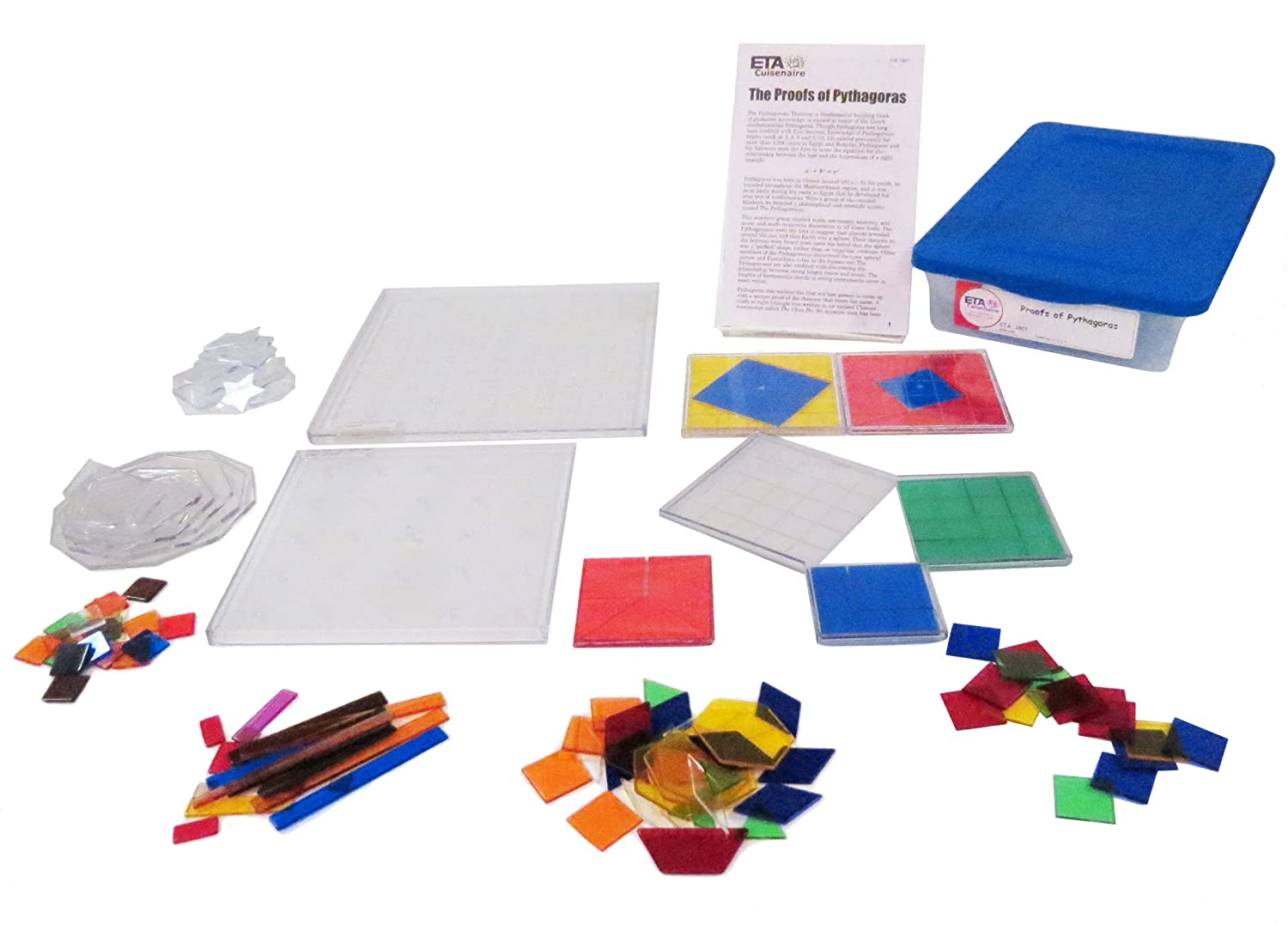 Set of 200 hand2mind Solid Colorful Plastic Counting Chips