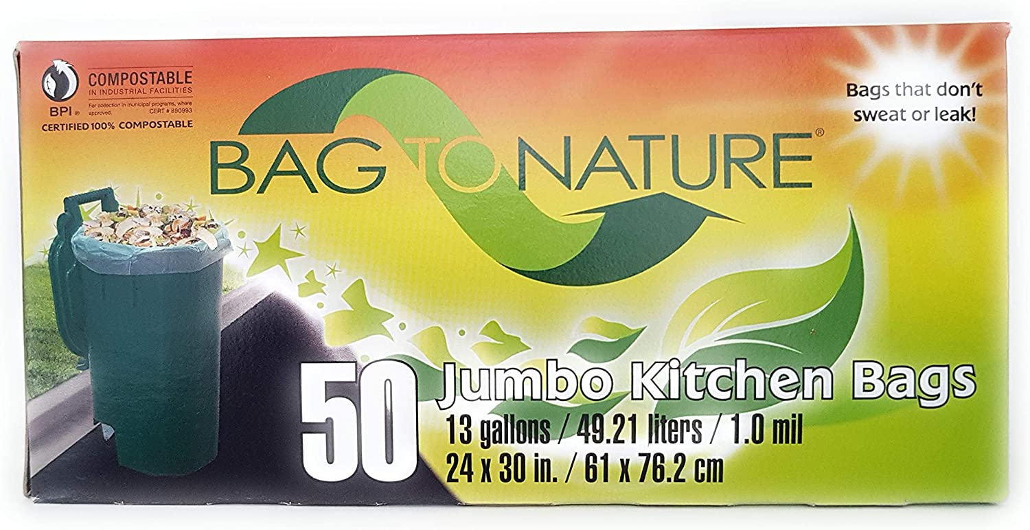 Bag to nature jumbo trash bags are perfect for municipal and industrial composting activities