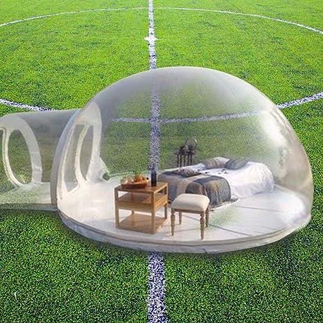 ZYJFP Tienda Inflable Transparente, Paso de Aire Cerrado Una Sola Capa De La Bóveda del Aire Transparente del Garden Igloo Patio Trasero Que Acampa De La Familia Jardín (Personalizable),4M: Amazon.es: Hogar