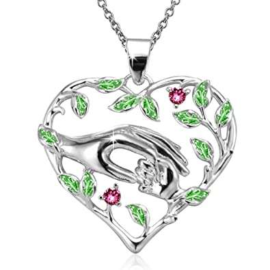 Amazon angelady mom and i love heart mother child pendant amazon angelady mom and i love heart mother child pendant necklace birthday wedding gift crystal from swarovski white gold plated jewelry aloadofball Image collections