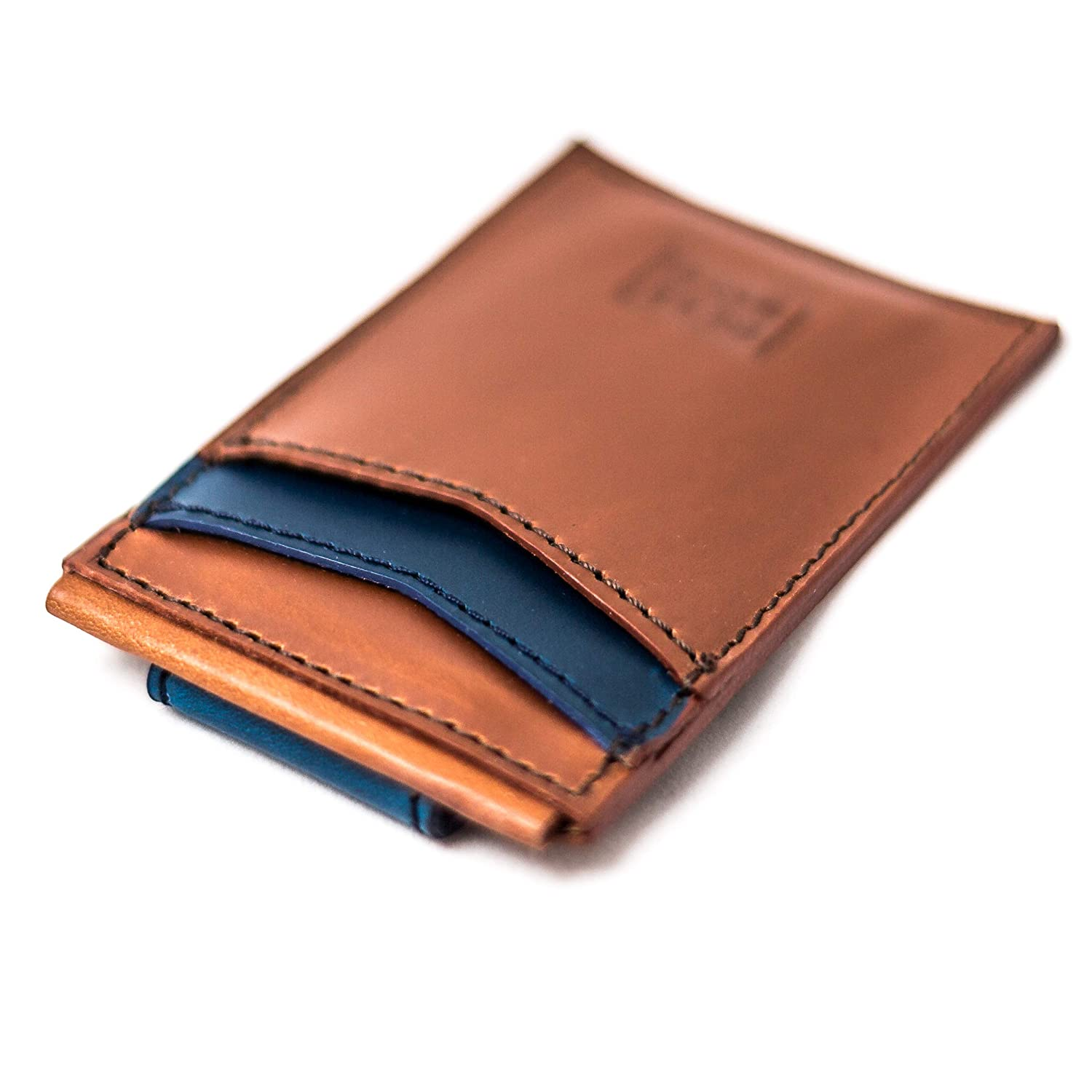 2in x 2in Top Grain Premium Leather Leather Wallet Magnetic Card Case BestSelf Co Money Clip Ultra Slim Design