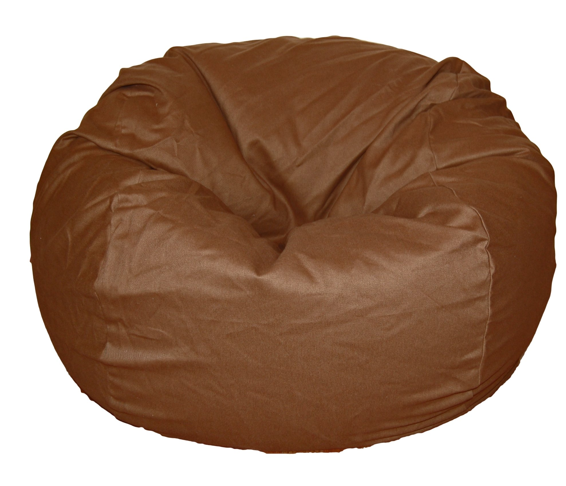 Ahh! Products Brown Organic Cotton Washable Large Bean Bag Chair