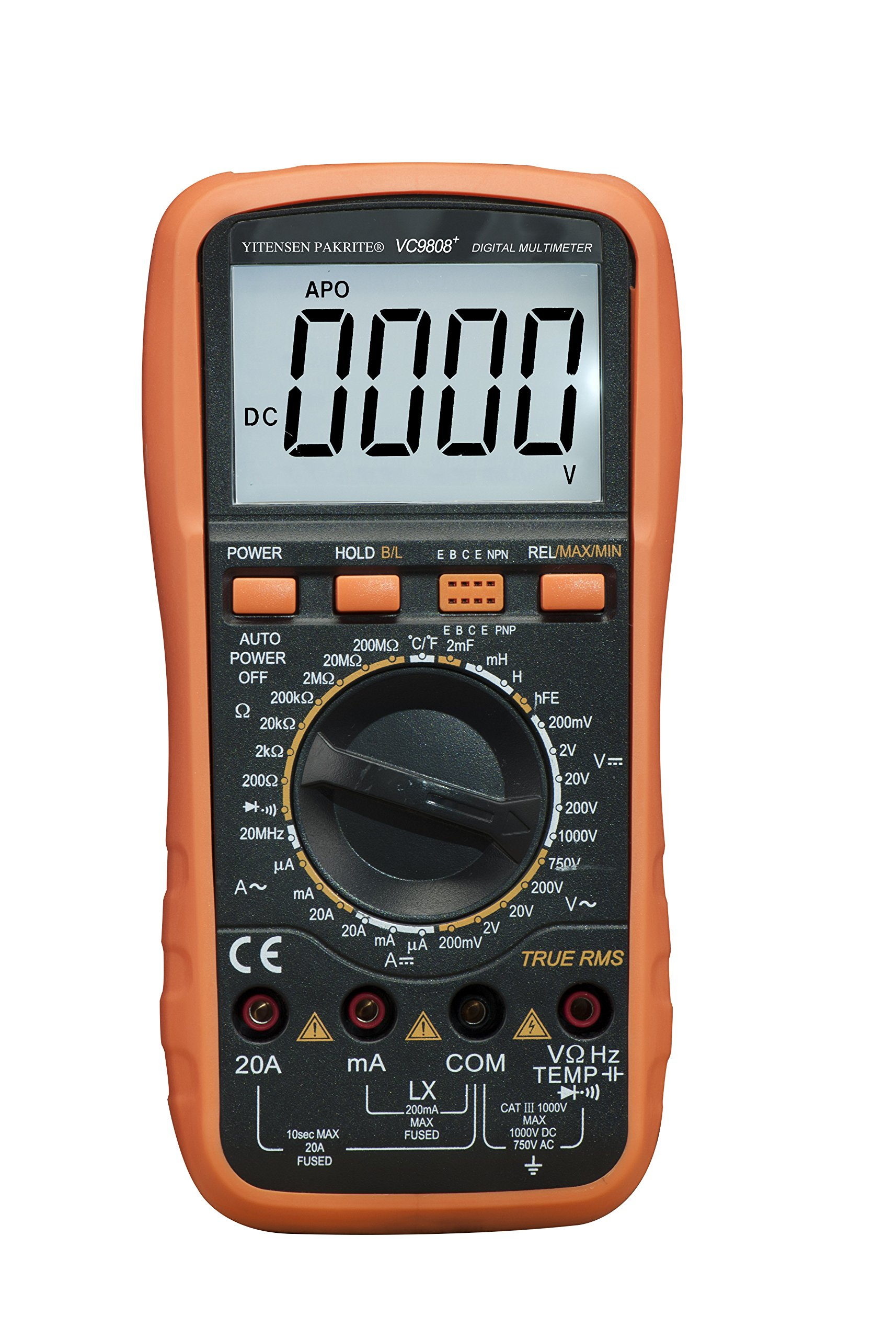 VICTOR YITENSEN-PAKRITE(R) Digital Multimeter VC9808+