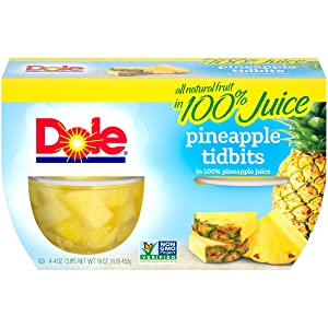 Dole, Pineapple Tidbits in Juice, 16 Oz, (pack of 4)