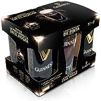 Guinness Draught Cerveza Negra Irlandesa, Pack con Vaso