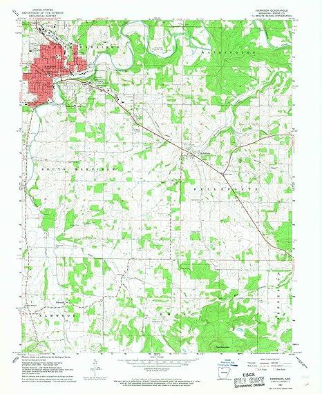 Amazon.com : Harrison AR topo map, 1:24000 scale, 7.5 X 7.5 Minute ...