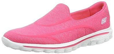 bf57c77157ec0 Skechers Gowalk 2 Super Sock Women's Walking Shoes - Pink, 3 UK (36 EU
