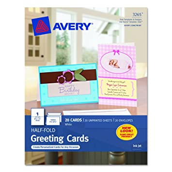 avery quarter fold greeting cards