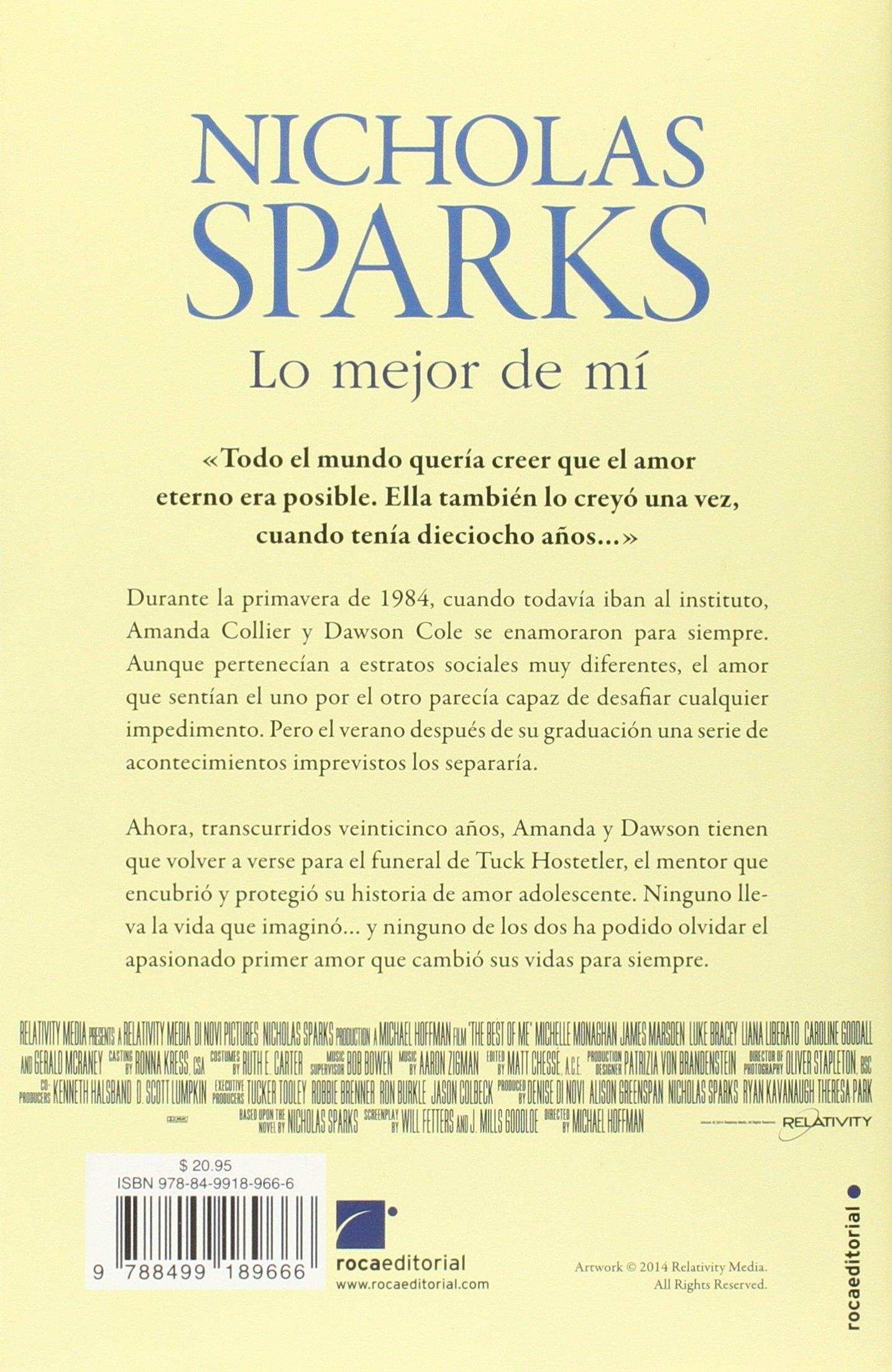 Lo mejor de mi spanish edition nicholas sparks 9788499189666 lo mejor de mi spanish edition nicholas sparks 9788499189666 amazon books fandeluxe Gallery
