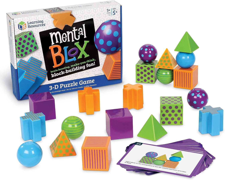 Learning Resources- Juego de razonamiento analítico Mental Blox, Multicolor (LER9280) , color/modelo surtido