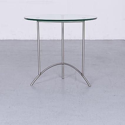amazon com ronald schmitt designer glas tisch silber couchtisch