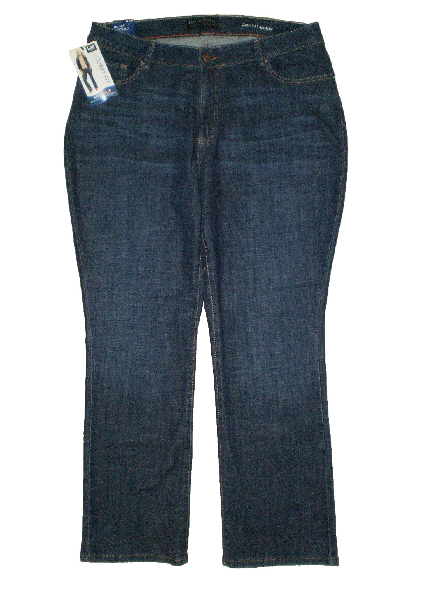 Lee Modern Series Mid Curvy Fit Boot Stretch Womens Petite Denim Jeans Plus Size 24W Petite