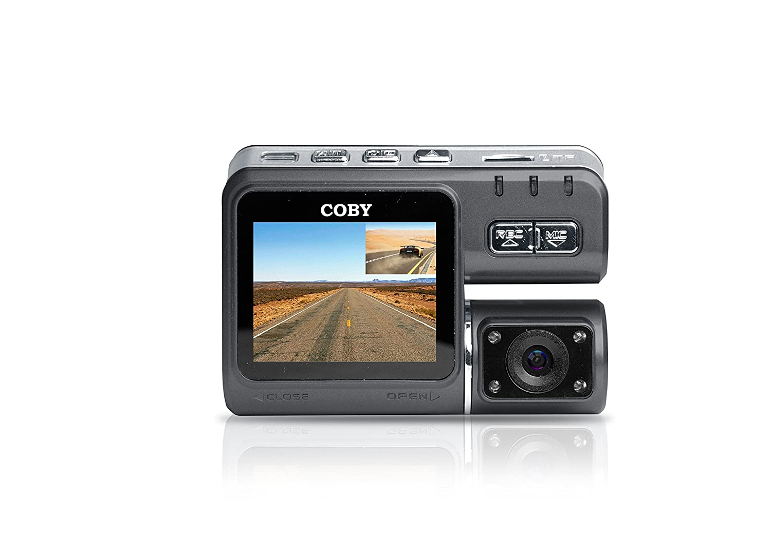 Amazon.com: Coby DCHDM-301-V2 Rear View Mirror 1080P Dash Cam and DVR: Car Electronics