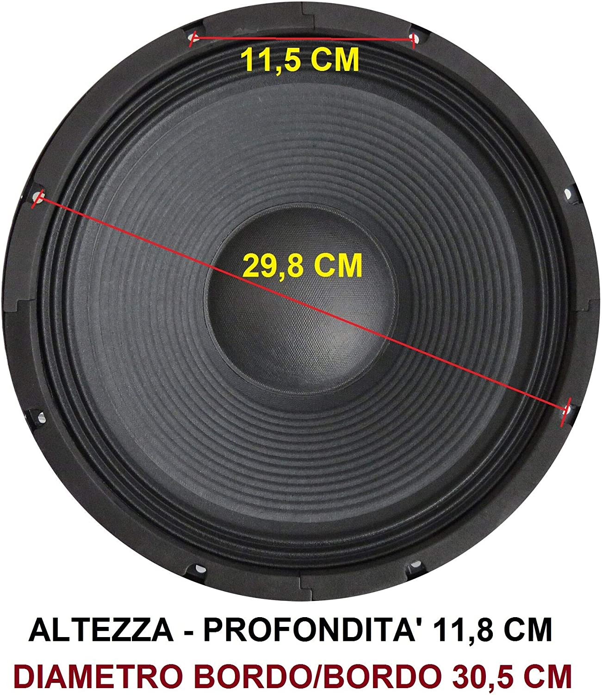 marchio Italiano WOOFER 30 CM 8 OHM 31 CM 12 POLLICI 500W ALTOPARLANTE RICAMBIO CASSE ACUSTICHE PASSIVE AMPLIFICATE
