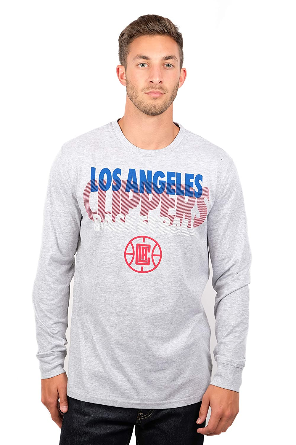 (Los Angeles Clippers, Small) - UNK NBA Men's T-Shirt Supreme Long Sleeve Pullover Tee Shirt, Grey   B01LXDRXET