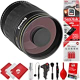 Opteka 500mm f/8 Manual Focus High Definition Telephoto Mirror Wild Life Lens for Canon EOS 80D, 77D, 70D, 60D, 7D, 6D, 5D, 7D Mark II, T7i, T6s, T6i, T6, T5i, T5, SL1 & SL2 Digital SLR Cameras