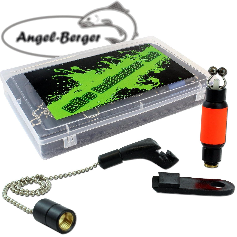 Angel Berger Bite Indikator 4 St/ück mit Koffer