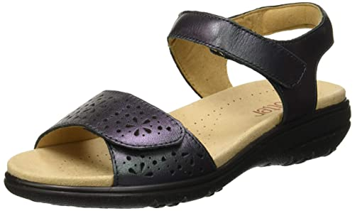145dafd3 Hotter Women's Leah Sling Back Sandals, Blue (Petrol Metallic 321), 3 (
