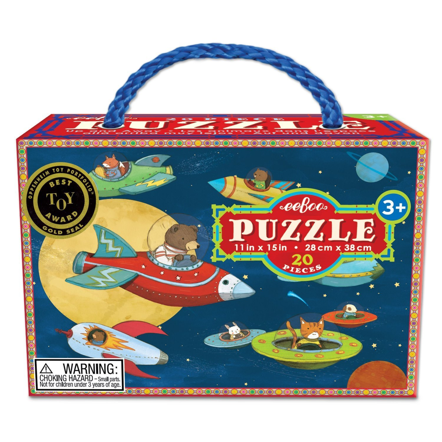20 Jumbo Piece Puzzles, Illustrations by Melissa Sweet and Kevin Hawkes eeBoo