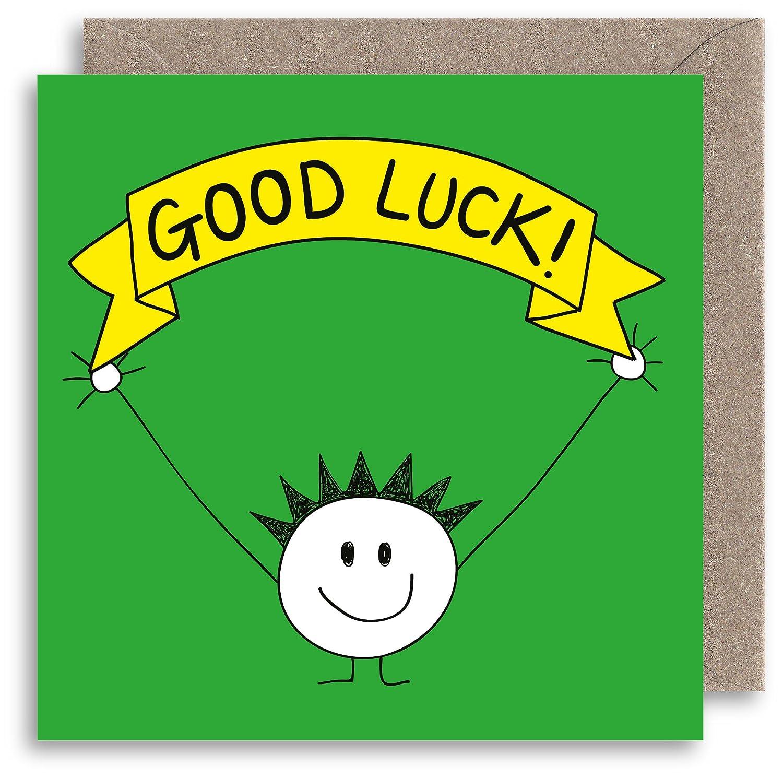 Funny Good Luck card/ /Biglietto d auguri/ /Exams auguri umoristico /Hugs illustrazione di nuovo lavoro/