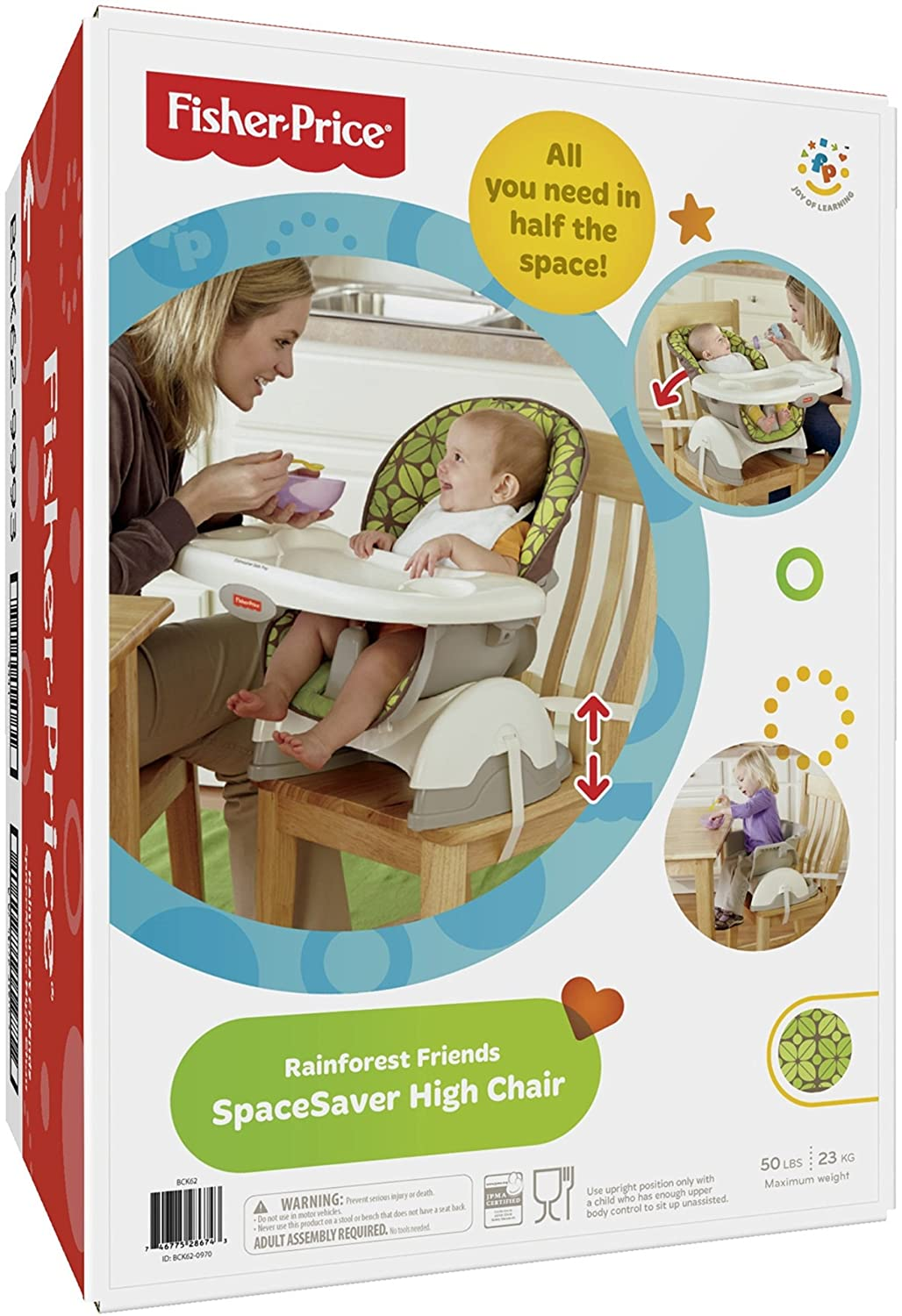 fisher price high chair space saver reviews. amazon.com : fisher-price spacesaver high chair, rainforest friends childrens highchairs baby fisher price chair space saver reviews