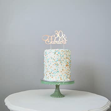 Avery Carey 30 And Fabulous Birthday Cake Topper In Any Color 30th