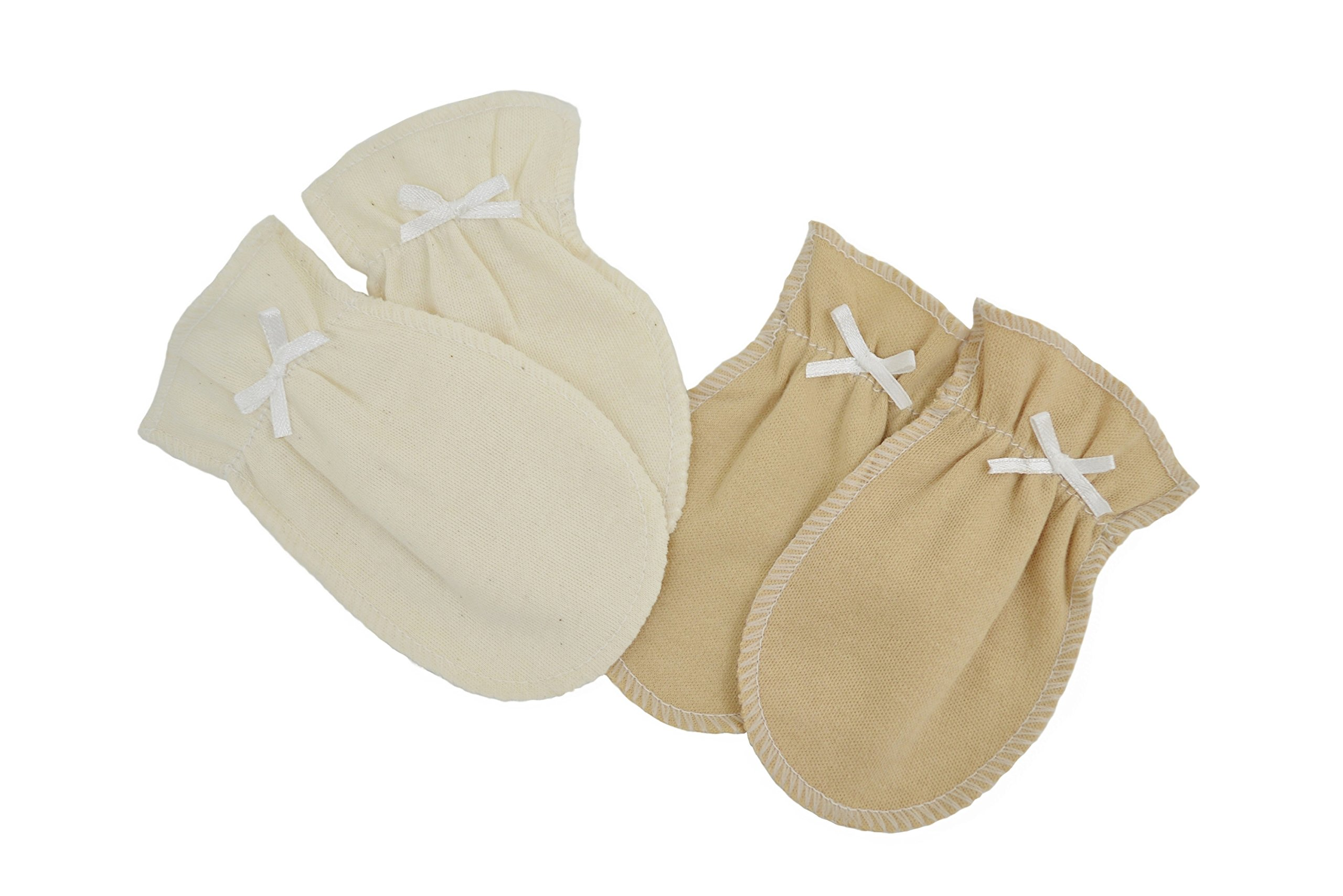 TL Care Newborn Mittens Made with Organic Cotton - 2 Pairs