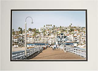 product image for The Pier in San Clemente, Orange County, California A-9008659 (11x14 Double-Matted Art Print, Wall Decor Ready to Frame)