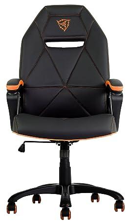 ThunderX3 TGC10 - Silla gaming profesional (cuero sintético, inclinación y altura regulables, rango