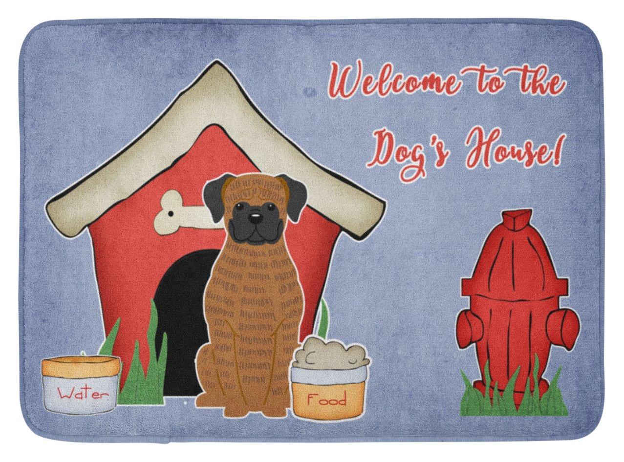 Carolines Treasures Dog House Collection Brindle Boxer Floor Mat 19 x 27 Multicolor