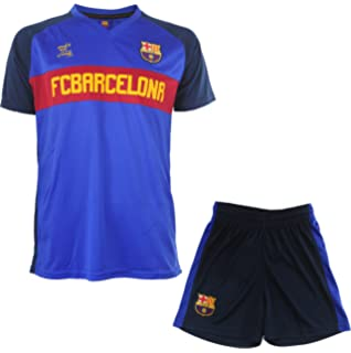 Fc Barcelone - Conjunto Oficial de Camiseta y Pantalones Cortos para niño b433fdfb7afd1