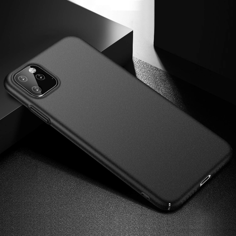 Negro Liso anccer Funda iPhone 11 Pro Ultra Slim Anti-Rasgu/ño y Resistente Huellas Dactilares Totalmente Protectora Caso de Duro Cover Case para iPhone 11 Pro 2019 5.8