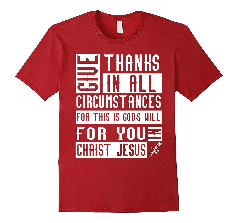 1 Thessalonians 5:18 Christian Bible Verse T-Shirt-CL