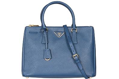 9f86d0890892 Prada BN2274 Authentic Bag - Navy Blue Bluette Saffiano Lux Calf Leather  Handbag: Handbags: Amazon.com