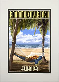 product image for Panama City Beach, Florida - Hammock and Palms (11x14 Double-Matted Art Print, Wall Decor Ready to Frame)