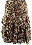 Ralph Lauren Lauren Women's Plus Size Leopard Ruffled Skirt