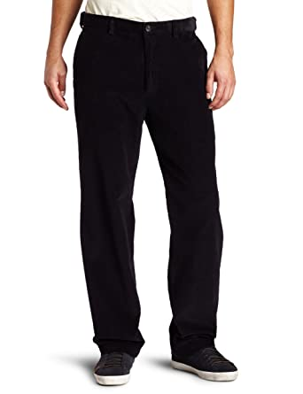 Haggar Mens Work-To-Weekend Hidden Expandable-Waist Corduroy Plain ...
