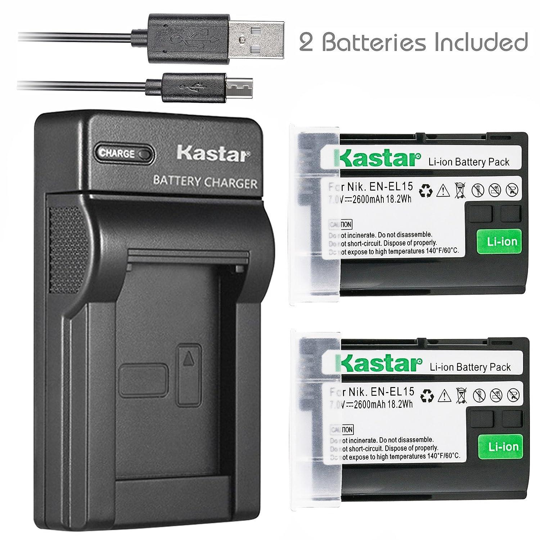 Kastar recargable + Ultra Slim de batería para Nikon EN-EL15 ...