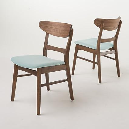 GDF Studio Helen Mid Century Modern Dining Chair (Set Of 2) (Mint W