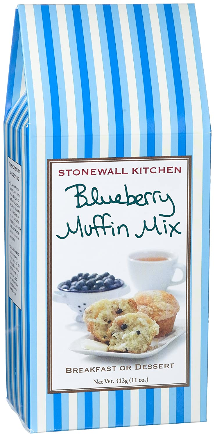 Amazon.com : Stonewall Kitchen Blueberry Muffin Mix, 11-Ounce Boxes ...