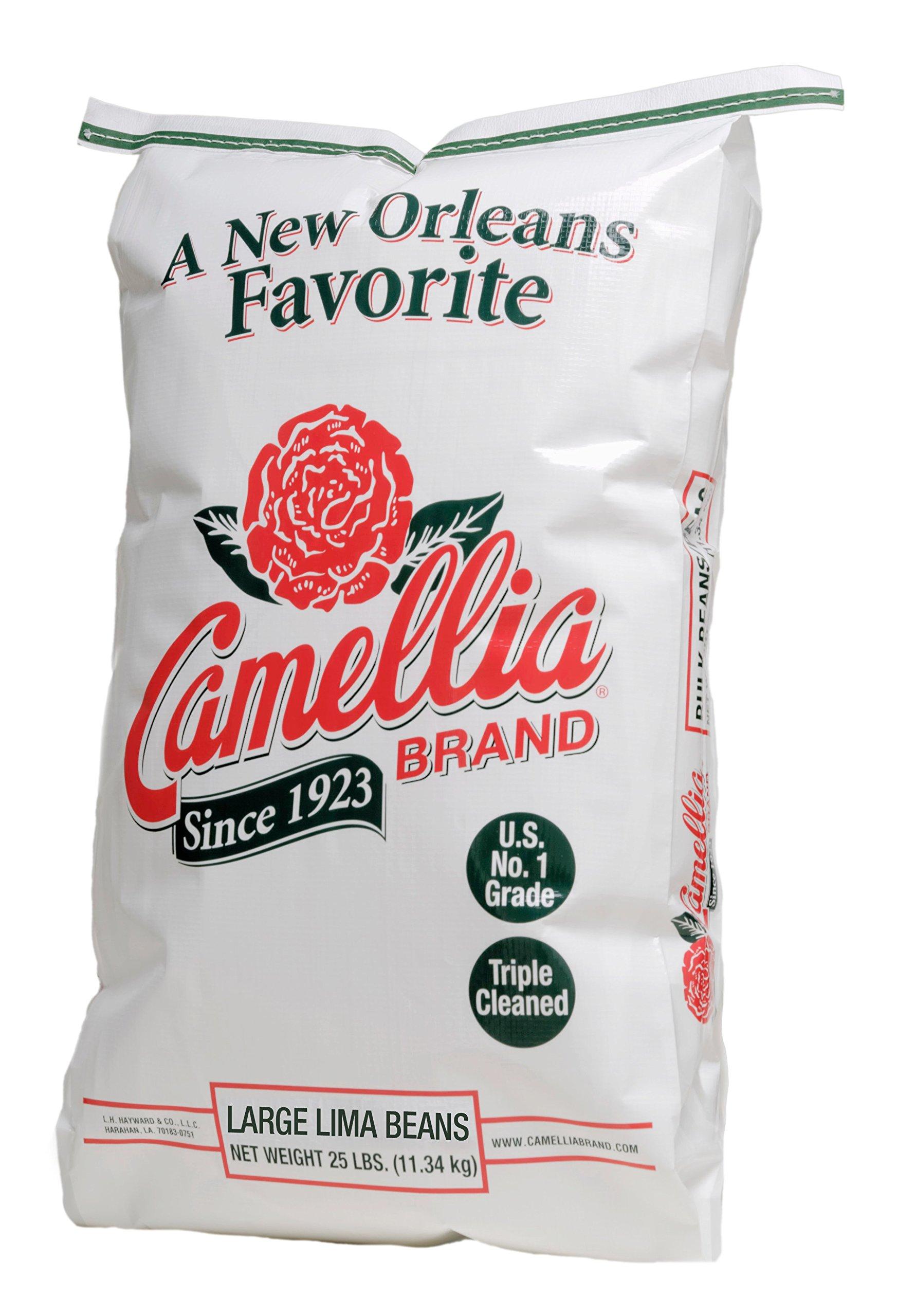 Camellia Brand - Large Lima Beans, Dry Beans (25 Pound Bag)